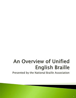 Cover Photo Of An Overview of Unified English Braille