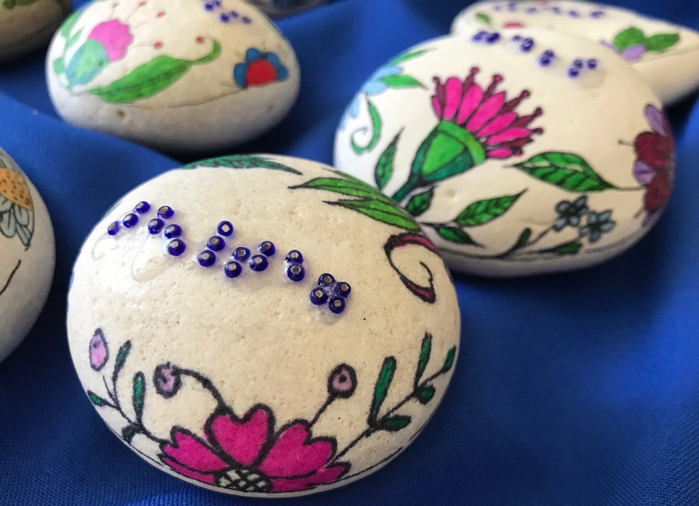 Handpainted-Rocks-with-Raised-Braille-Dots