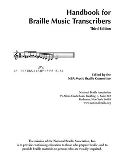 Handbook For Music Braille Transcribers Cover