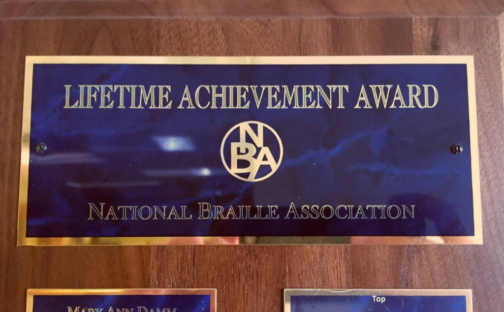 NBA Lifetime Achievement Award Winner Plaque Header