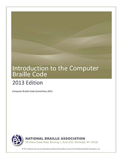 Cover Photo of Introduction to the Computer Braille Code