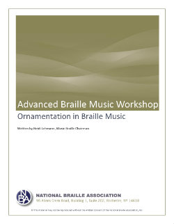 Ornamentation in Braille Music_Cover