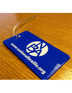 Photo of the NBA Luggage Tag